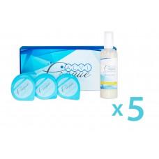"""Sada kosmetiky pro karboxyterapeutické přístroje s rozjasnujícím gelem """"Bright"""" od 5 ks"""