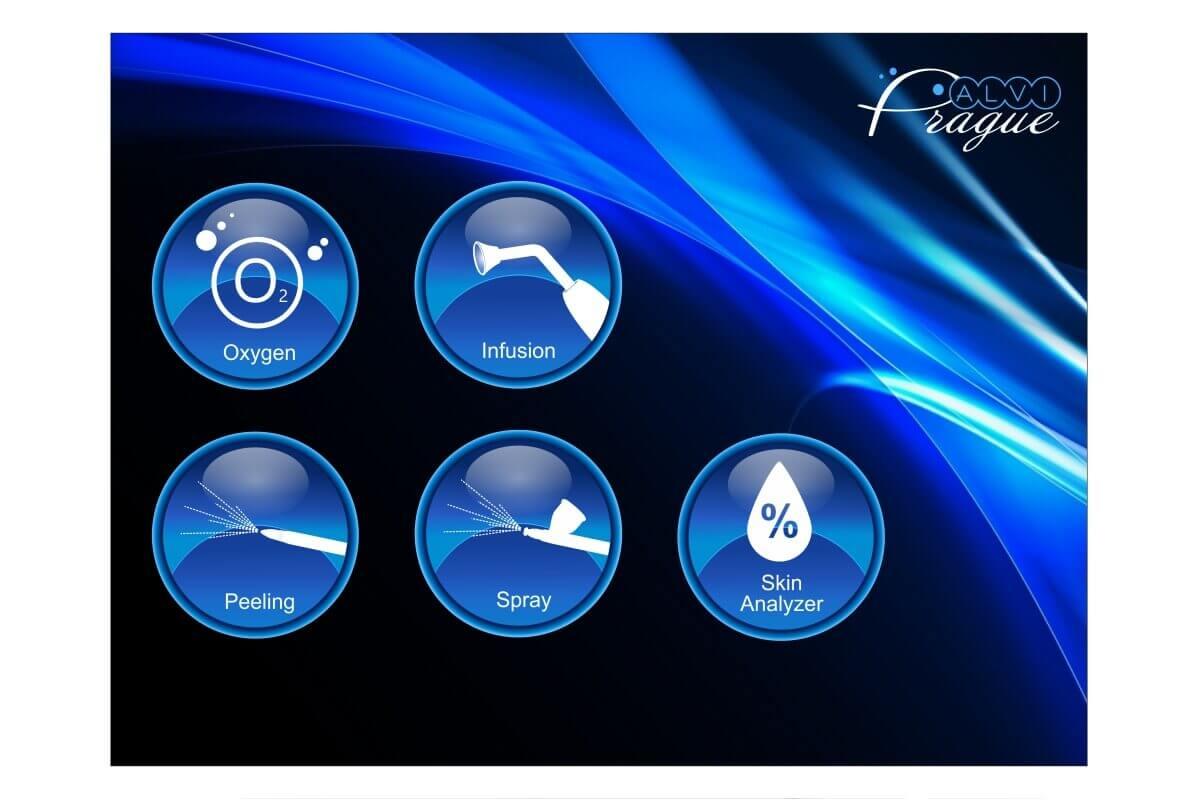 kosmetický hydrafacial přístroj pro kyslíkovou terapii av4000