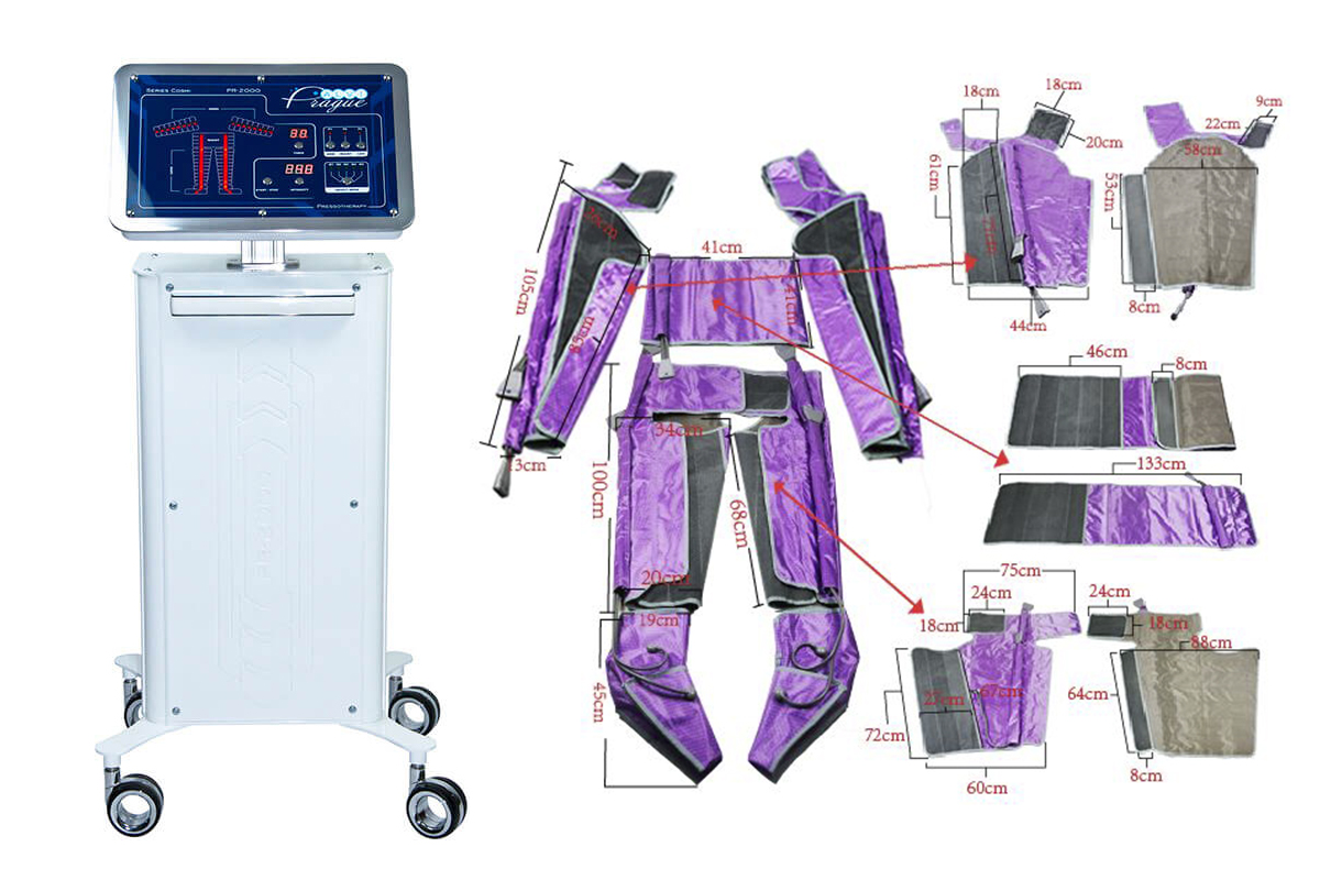 lymfodrenážní přístroj pr-2000 lymfodrenážní přístroje